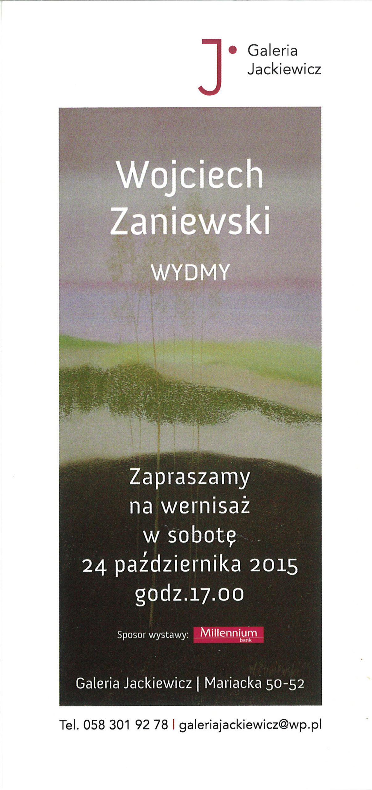 Indywidualna wystawa - Galeria Jackiewicz, Gdańsk 2015