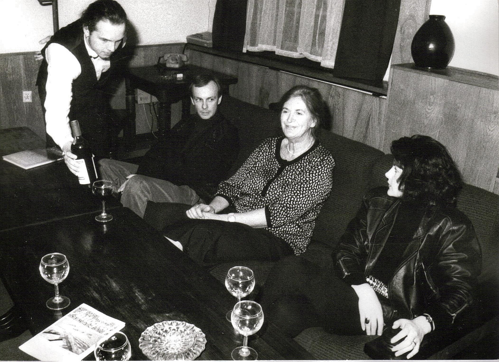 Spotkanie redakcyjne podczas prac nad albumem, Gdańsk 1993