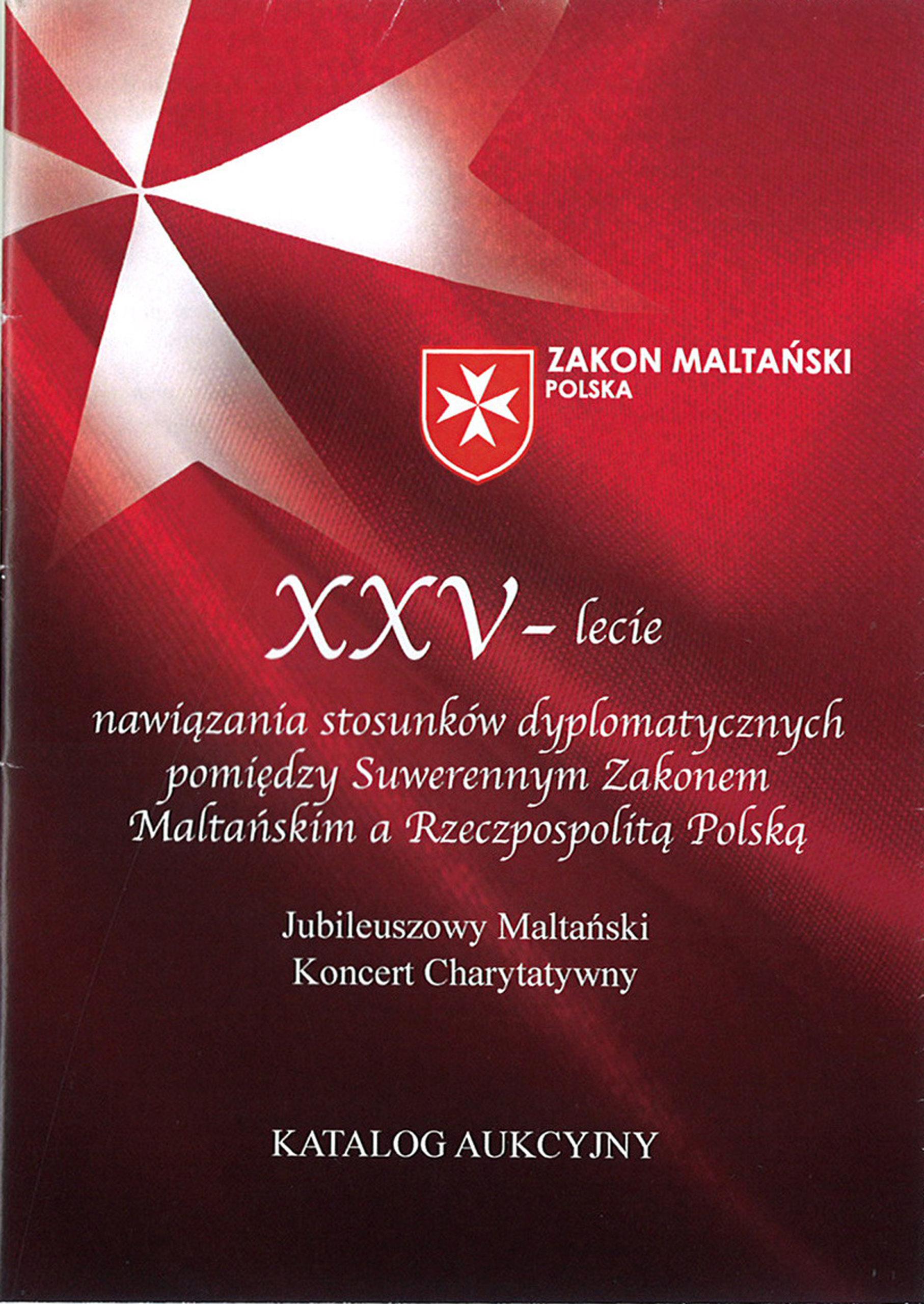 Aukcja dzieł sztuki z okazji XXV - lecia nawiązania stosunków dyplomatycznych..., Warszawa 2015