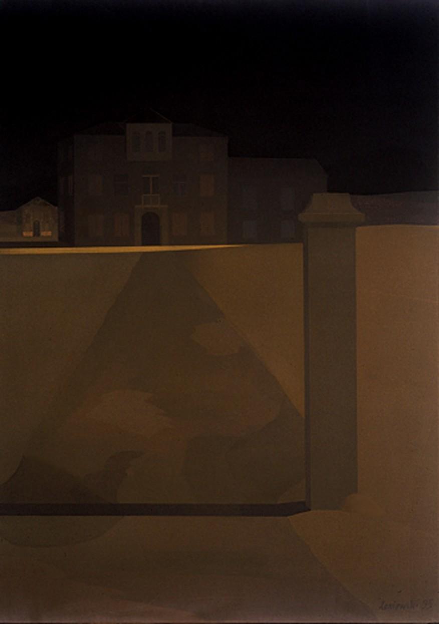 Pejzaż włoski 1995, olej 120 x 85 cm