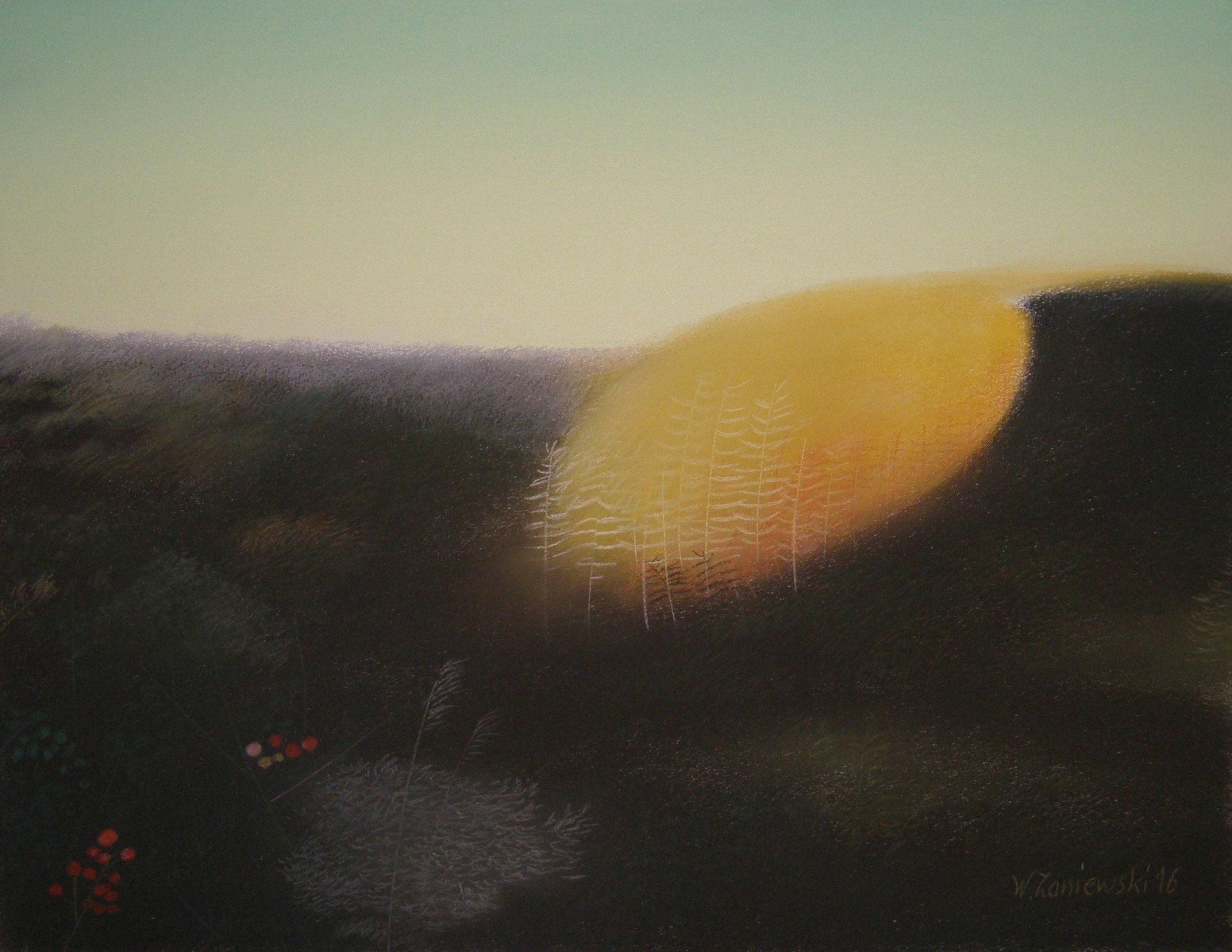 Pastel z cyklu Wydmy 2016, 49 x 64 cm