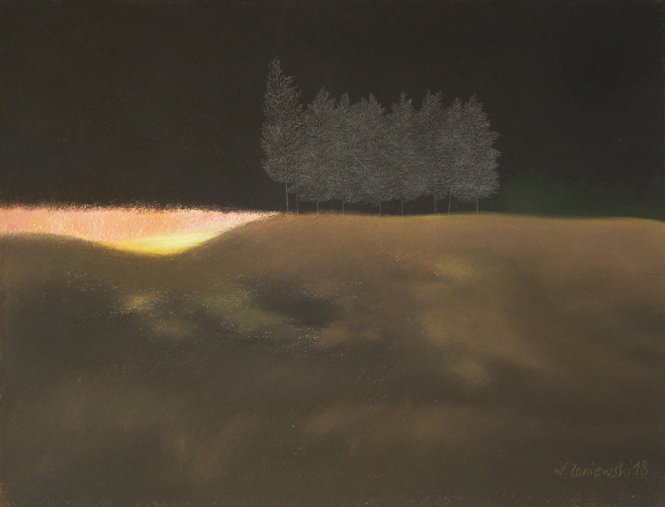 Pastel z cyklu Wydmy 2018, 49 x 64 cm